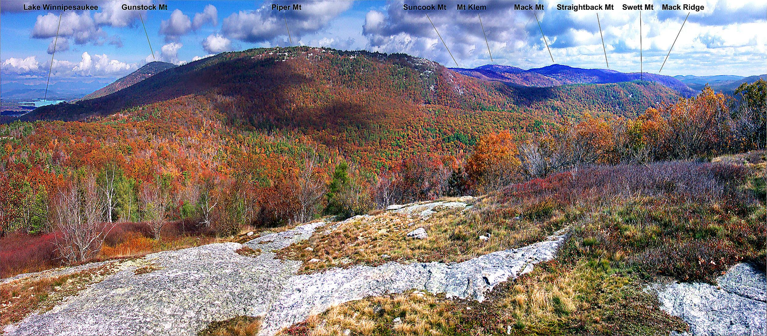 Fall View from Mount Belknap