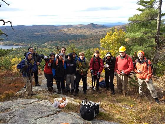 Boy Scout Trail Crew on Mack Ridge by Michael Quinn