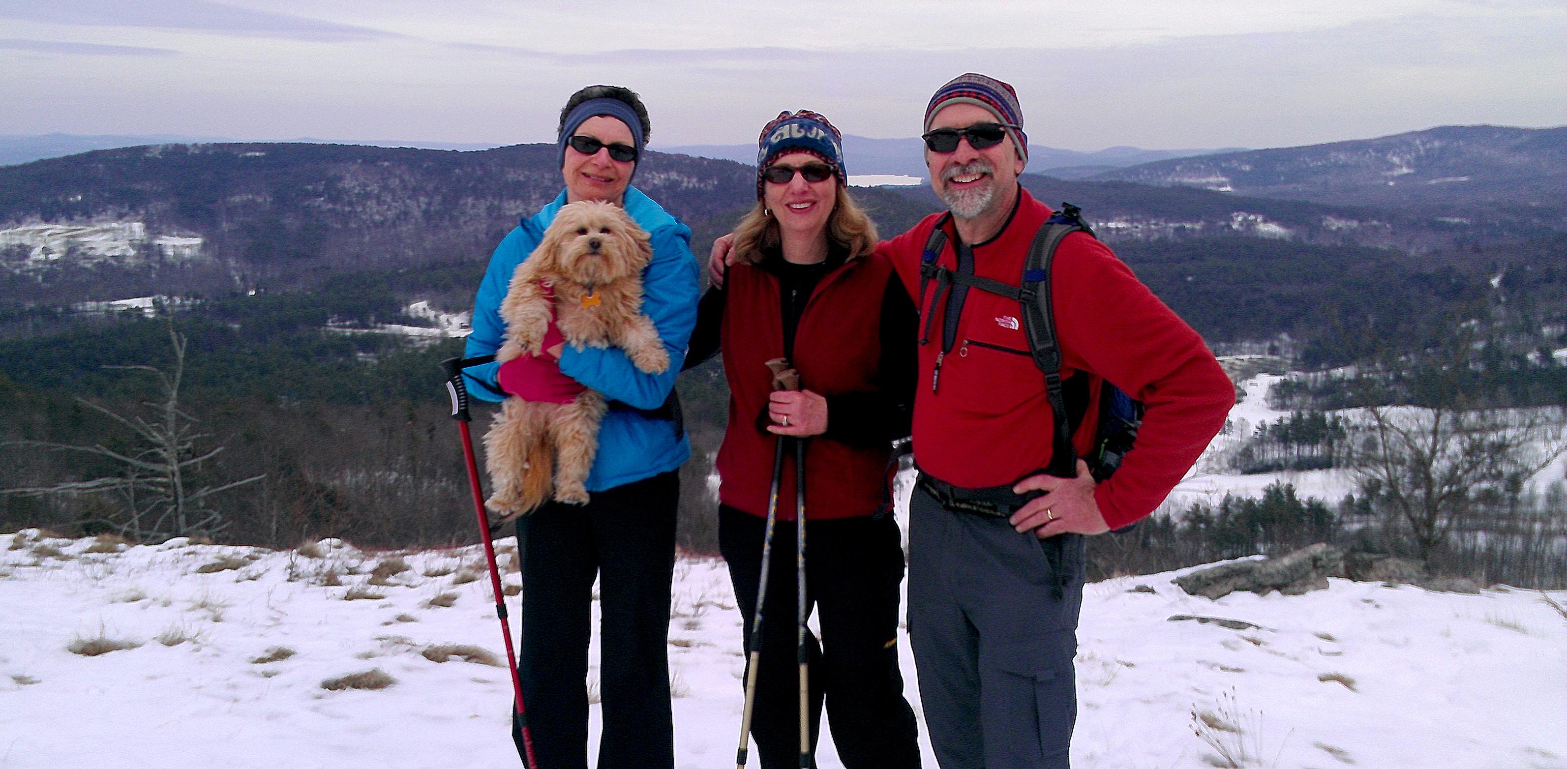 Everett Winter Hike to peak of Mount Rowe