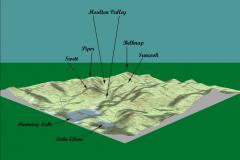 Moulton Valley topographical map